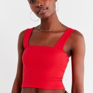 UO Side Lines Square-Neck Tank Top